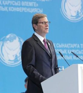 German Foreign Minister Guido Westerwelle speaking at the parliamentary assembly
